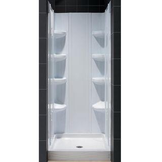 DreamLine White Shower Base and Back Walls Shower Kit