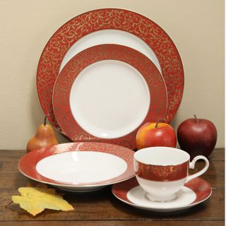 Mikasa Parchment Red 40 piece Dinnerware Set (Service for 8