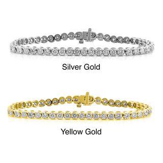 14k Gold 3ct TDW Diamond Tennis Bracelet (G H, I2 I3)