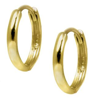 14kt Yellow Gold Rounded Mini Hoop Earrings