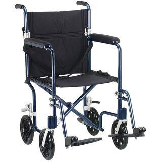 Drive Medical Flyweight 17 Aluminum Transport Wheelchair