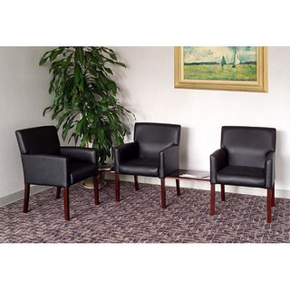 Boss Five piece Reception Group Set with Black Vinyl Upholstery