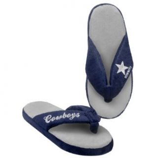 Dallas Cowboys NFL Womens Glitter Thong Flip Flop Slippers