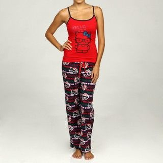 Hello Kitty Womens Preppy Cutie 2 piece Pajama Set