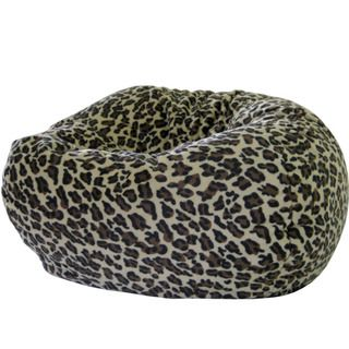Jumbo Animal Print Round Bean Bag Chair