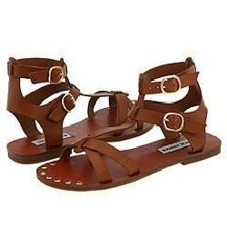 Steve Madden Broose Tan Leather Sandals