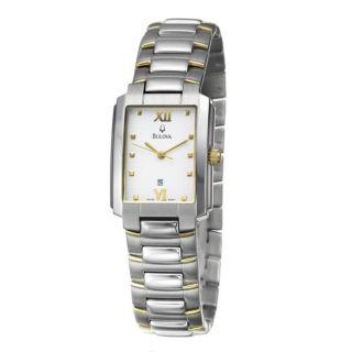 Bulova Mens Dress Two tone Stainless Steel Quartz Watch