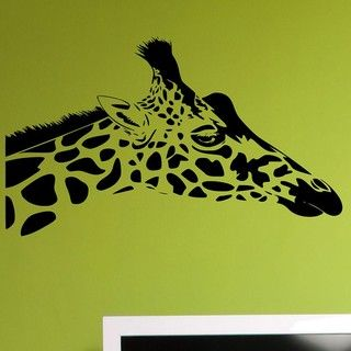 Vinyl Giraffe Head Wall Decal Set