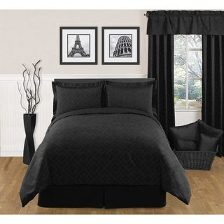 Sweet JoJo Designs Black Diamond 3 piece Full / Queen size Bedding Set