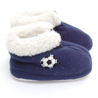 Easy Infant Boys Slippers Navy Soccer Booties Boy 3 Easy USA Shoes