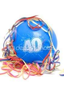 Birthday balloon with the number 40  Stock Photo © Sandra van der