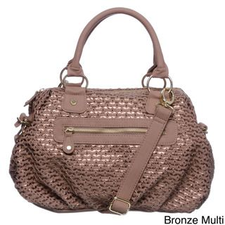 Steve Madden Woven Alert Lattice Satchel Handbag