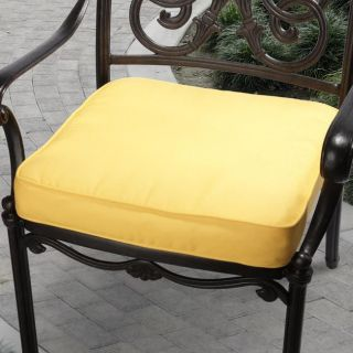 Clara 19 inch Outdoor Sunflower Yellow Cushion Made with Sunbrella