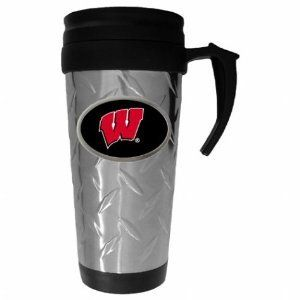 NCAA Wisconsin Badgers Steel Travel Mug