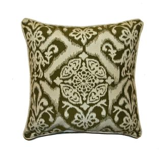 JAR Designs Ikat Green Throw Pillow