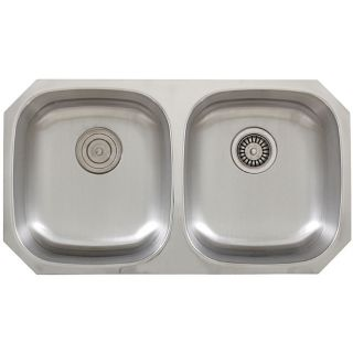 Ticor Stainless Steel 16 gauge Undermount Kitchen Sink