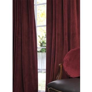 Signature Burgundy Velvet 96 inch Blackout Curtain Panel