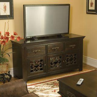 Florence Dark Mahogany 3 drawer/ 3 door TV Stand