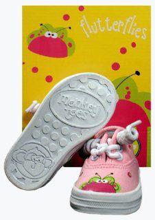 Monkey Toes Little Girls Flutter Bug Tennis Shoes (SZ 5) Baby
