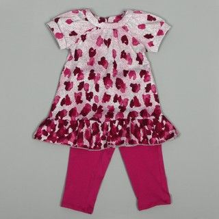 Hype Toddler Girls Pink Legging and Dress Set