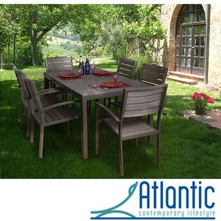 Antigua 7 piece Faux Wood Dining Set