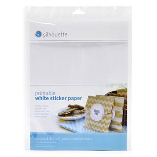 Silhouette Printable White Sticker Paper