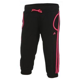 Modèle RL Capri Q1. Coloris  noir et rose. Pantalon 3/4 Fitness