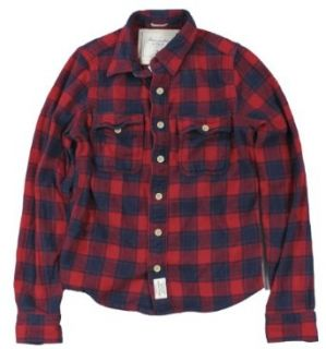 Abercrombie & Fitch Mens Mount Covin Flannel Shirt (Navy
