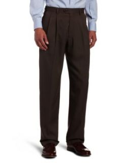 Haggar Mens Micro Houndstooth Pleat Front Expandable