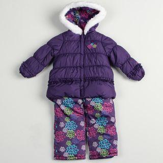 London Fog Girls Purple Snowsuit