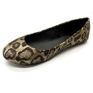 Blue Womens Gomez Brown Leopard Print Flats