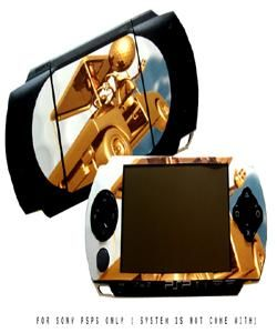 Gold 3D Golf Cart Removable Skins Sticker For SONY PSP