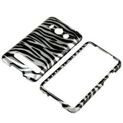 Black/ Silver Zebra Plasic Case for HC EVO 4G