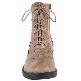Jacobies by Beston Womens WX 1 Combat Ankle Boots