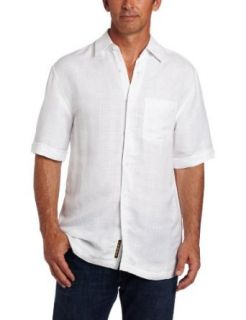 Cubavera Mens Short Sleeve Textured Shirt Clothing
