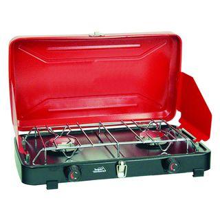 Texsport Rainier Compact Red Dual burner Propane Stove
