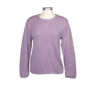 Modern Soul Pointelle Knit Crew neck Sweater Clothing