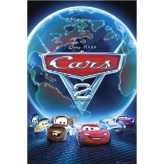 DISNEY CARS 2   Poster World Blue   61 x 91 cm   Achat / Vente TABLEAU