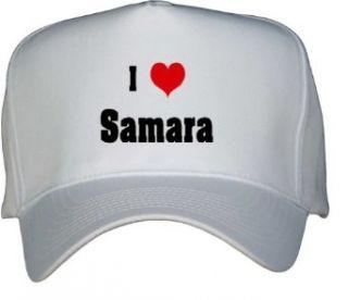 I Love/Heart Samara White Hat / Baseball Cap Clothing