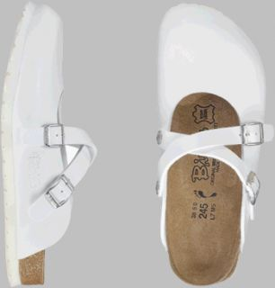 42.0 W EU made of Birko Flor in White with a regular insole Shoes