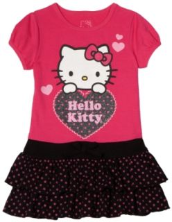 Hello Kitty Girls 2 6X Knit Dress With Polka Dot Accents