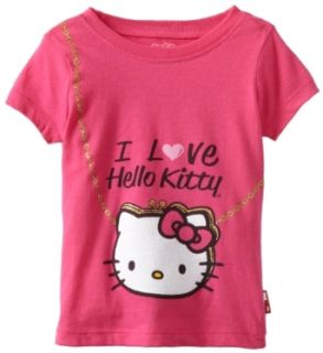 Hello Kitty Girls 2 6X Purse Graphic Tee, Fuschia Purple