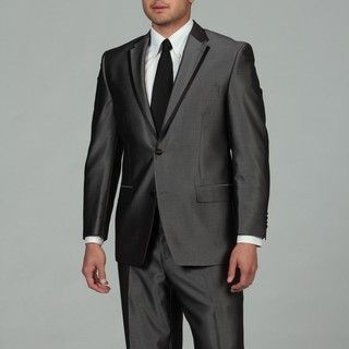Sean John Mens Grey 2 button Tuxedo