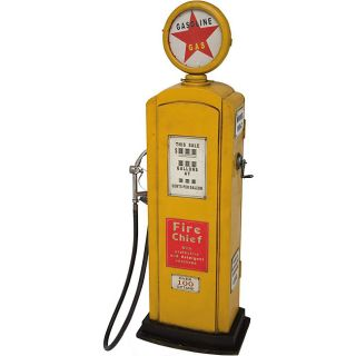 Yellow Novelty Gas Pump Game Room Storage Chest