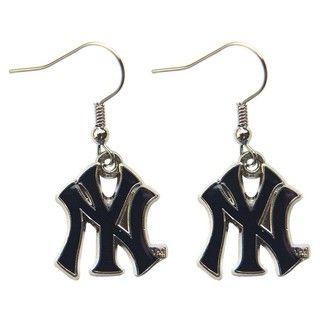 New York Yankees Dangle Logo Earrings