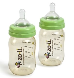 ZoLi Baby 5 ounce Wide mouth Bottles (Pack of 2)