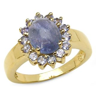 Malaika 14k Yellow Gold over Sterling Silver Tanzanite Ring