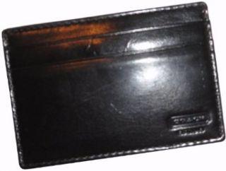 Mens Coach Water Buffalo Leather Money Clip Card Case