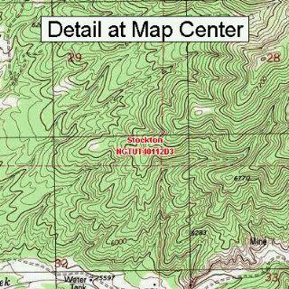 USGS Topographic Quadrangle Map   Stockton, Utah (Folded