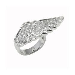 Brass Angel Wing Ring